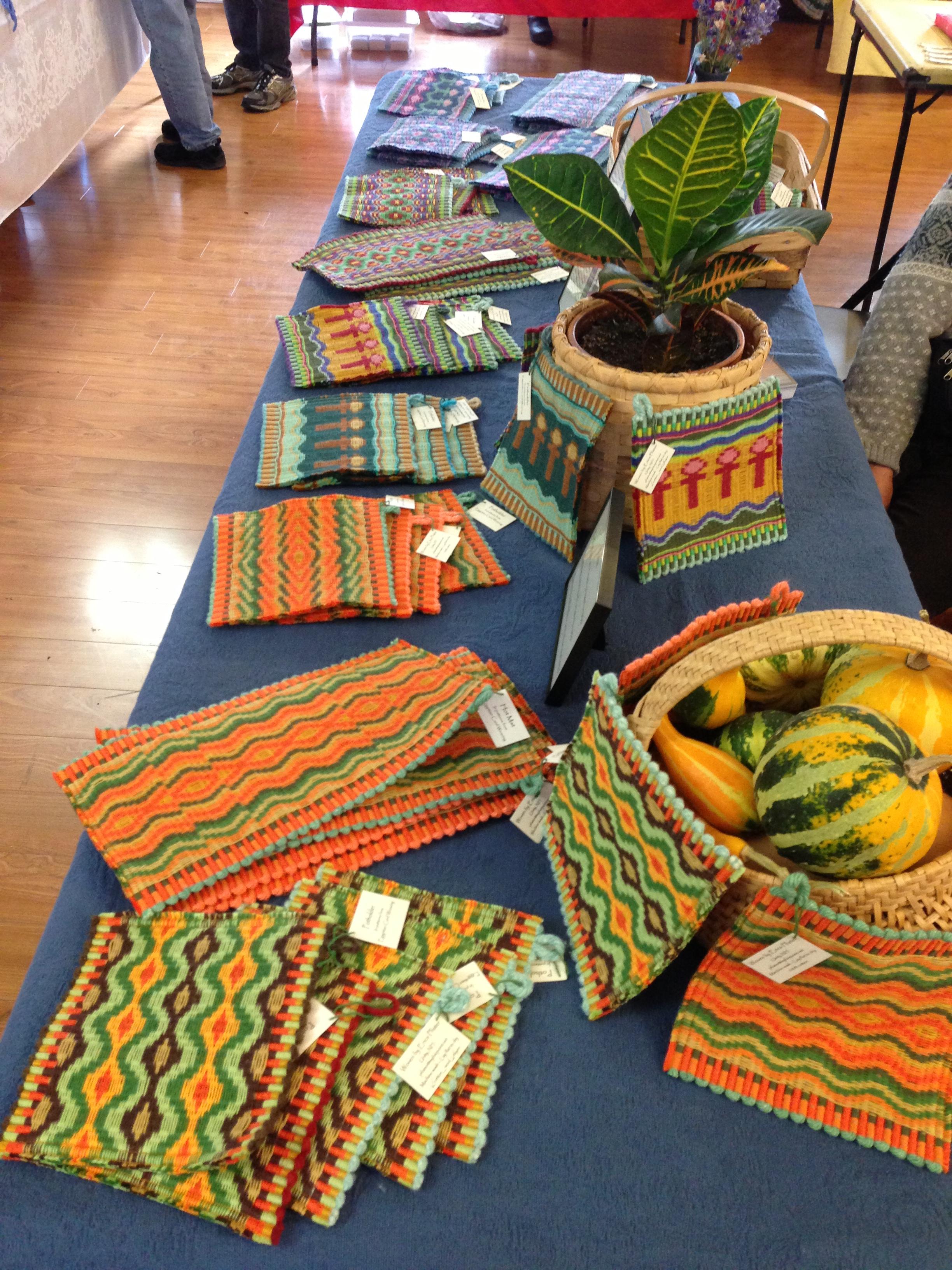 Hand woven mats by Pfister Rugs