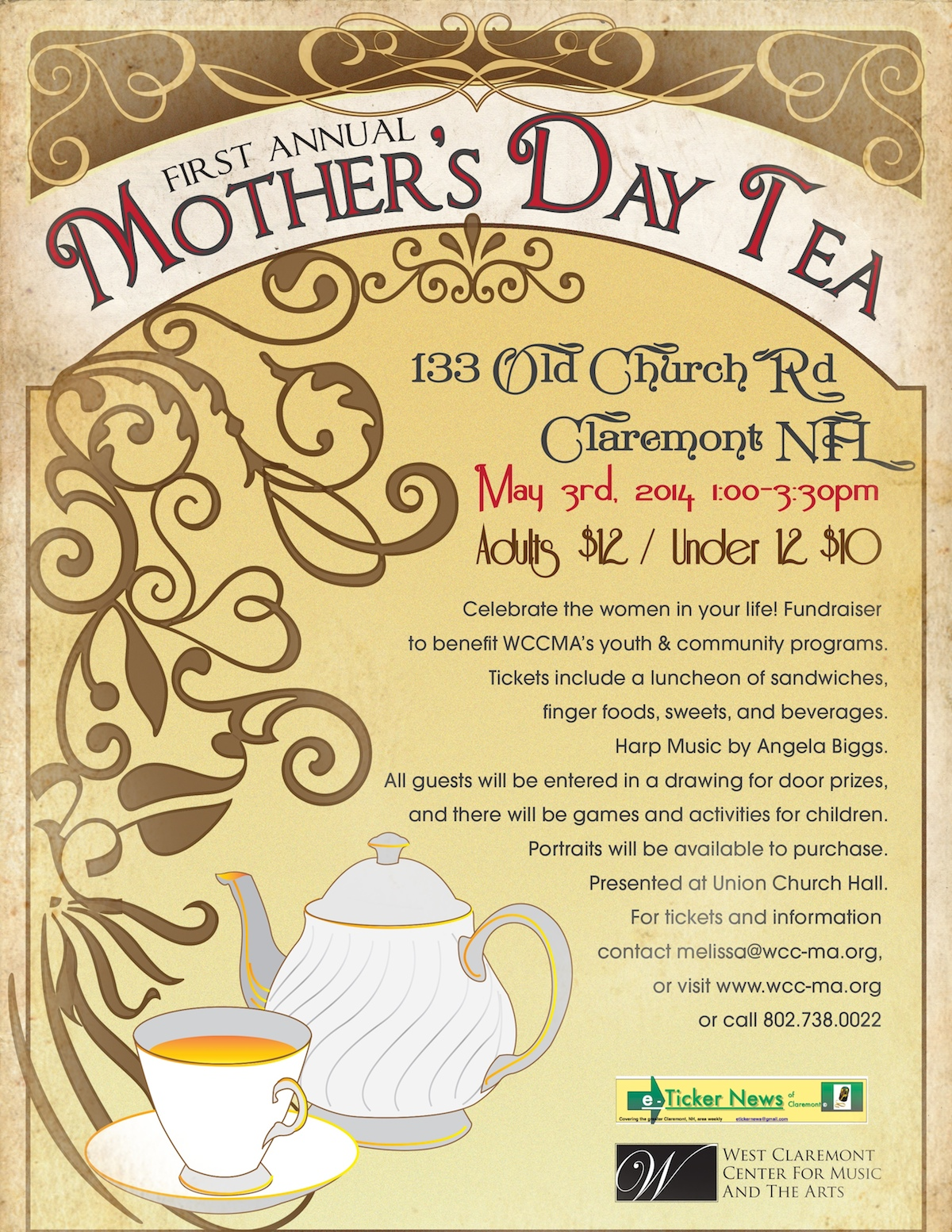 First Annual Mother S Day Tea West Claremont Center For Music And