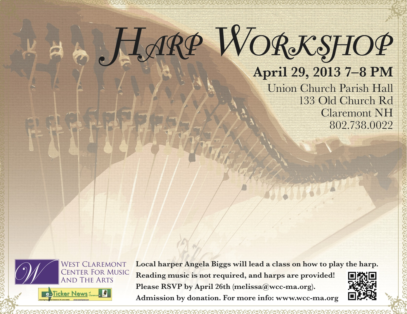 Harp Workshop next week!