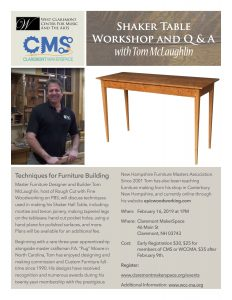 The West Claremont Center For Music And The Arts And The Claremont Maker  Space Are Pleased To Welcome Master Woodworker Tom McLaughlin To Claremont  For This ...